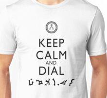Keep Calm and Dial Earth (black) Unisex T-Shirt
