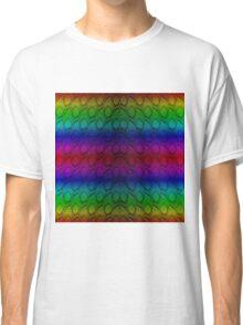 Bright Metallic Rainbow Python Snake Skin Horizontal Reptile Scales Classic T-Shirt