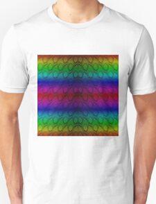 Bright Metallic Rainbow Python Snake Skin Horizontal Reptile Scales Unisex T-Shirt