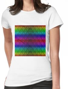 Bright Metallic Rainbow Python Snake Skin Horizontal Reptile Scales Womens Fitted T-Shirt