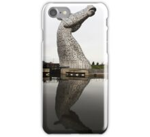 Kelpie with reflection iPhone Case/Skin
