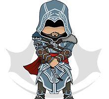 Assassin's Creed Revelations Chibi Ezio Auditore by SushiKittehs