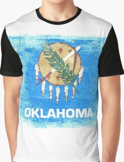 Oklahoma State Flag Distressed Vintage Graphic T-Shirt