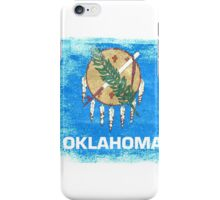 Oklahoma State Flag Distressed Vintage iPhone Case/Skin