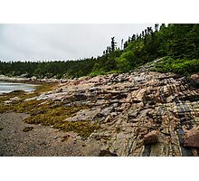 Low Tide - Walking on the Bottom of Saint Lawrence River Photographic Print