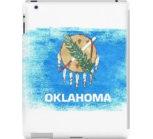 Oklahoma State Flag Distressed Vintage iPad Case/Skin