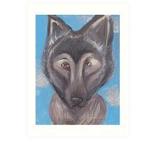 Wolf Dog Hybrid  Art Print