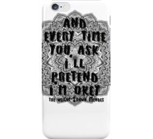 The Weight - Shawn Mendes Lyrics iPhone Case/Skin