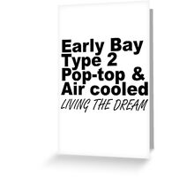 Early Bay Pop Type 2 Pop Top Black LTD Greeting Card