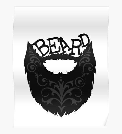 Ornate Black Beard Poster