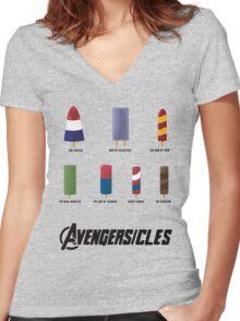 AVENGERSICLES Women's Fitted V-Neck T-Shirt