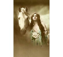 Woman With Horse Photographic Print