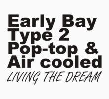 Early Bay Pop Type 2 Pop Top Black LTD One Piece - Short Sleeve