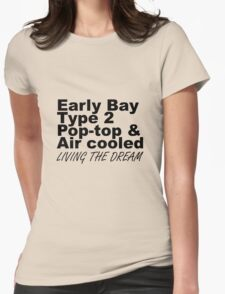 Early Bay Pop Type 2 Pop Top Black LTD Womens Fitted T-Shirt