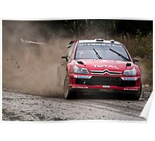 World Rally Car - Sebastien Loeb Poster
