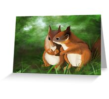 Into the undergrowth Greeting Card