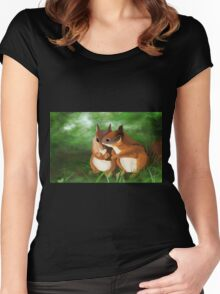 Into the undergrowth Women's Fitted Scoop T-Shirt