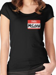 Superbad Quote - McLovin  Women's Fitted Scoop T-Shirt