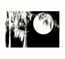 Cypress Moon Art Print