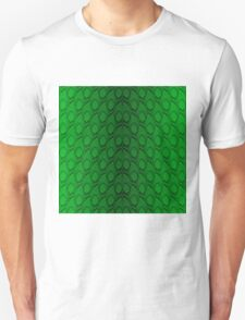 Neon Green and Black Snake Skin Reptile Scales Unisex T-Shirt