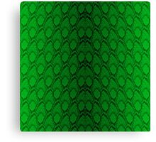 Neon Green and Black Snake Skin Reptile Scales Canvas Print