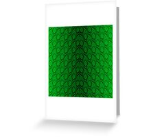 Neon Green and Black Snake Skin Reptile Scales Greeting Card