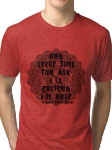 The Weight - Shawn Mendes Lyrics Tri-blend T-Shirt