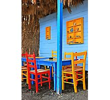 Have a seat at Therma - Kos island Photographic Print