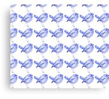 Blue Bird Pattern Canvas Print