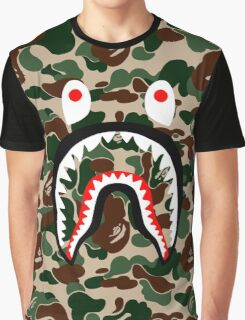 BAPE SHARK WOODLAND CAMO Graphic T-Shirt