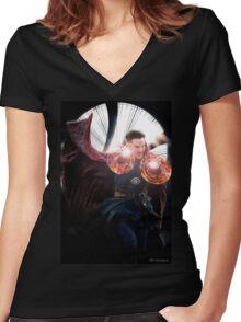 Doctor Strange edit no2 by lichtblickpink Women's Fitted V-Neck T-Shirt