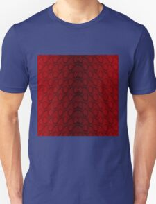 Red and Black Python Snake Skin Reptile Scales Unisex T-Shirt