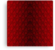 Red and Black Python Snake Skin Reptile Scales Canvas Print