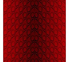 Red and Black Python Snake Skin Reptile Scales Photographic Print