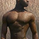 Oil painting of an African handsome man by Bruno Beach