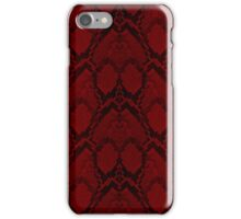 Red and Black Python Snake Skin Reptile Scales iPhone Case/Skin