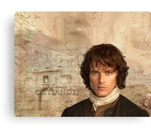 Outlander/Jamie Fraser with Lallybroch background Canvas Print
