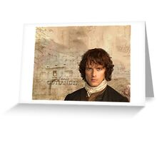 Outlander/Jamie Fraser with Lallybroch background Greeting Card