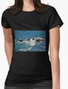 Pacific Ocean in Motion Womens Fitted T-Shirt