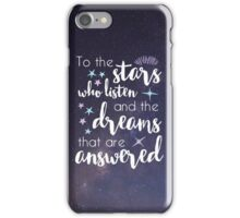 The Stars Who Listen iPhone Case/Skin