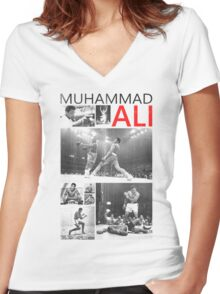 ali Women's Fitted V-Neck T-Shirt
