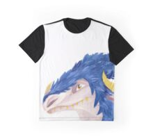 Blue Feathered Dragon Graphic T-Shirt