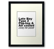 Late Bay Pop Type 2 Pop Top Black Framed Print