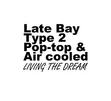 Late Bay Pop Type 2 Pop Top Black LTD Photographic Print