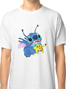 Stitch and Pikachu Classic T-Shirt