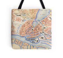 Vintage Map of Hamburg Germany (1888) Tote Bag