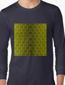 Golden Yellow and Black Python Snake Skin Reptile Scales Long Sleeve T-Shirt