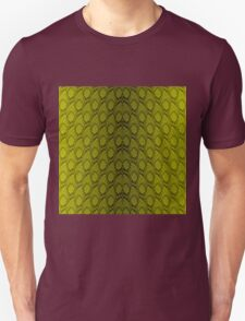 Golden Yellow and Black Python Snake Skin Reptile Scales Unisex T-Shirt
