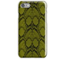 Golden Yellow and Black Python Snake Skin Reptile Scales iPhone Case/Skin