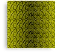 Golden Yellow and Black Python Snake Skin Reptile Scales Canvas Print